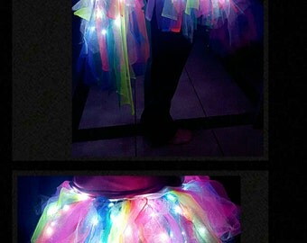 Princess Rainbow Lights tutu LED skirt
