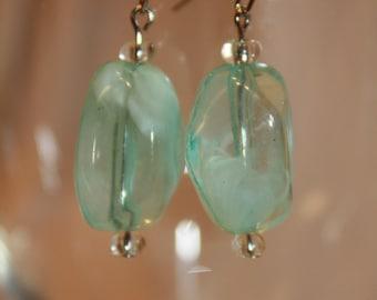 light aqua earrings