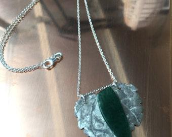 Green Malikite .99 Fine Silver Leaf SOLD