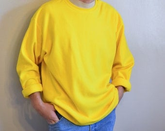 Yellow Gap Fleece Sweater