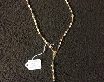 Rose Quartz colonial jasper golden Quartz rosary