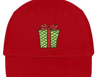 CHRISTMAS PRESENT Embroidered Christmas Themed Cotton Baseball Cap - 5 Colors! (LOG279-SAN-CP77)