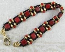 red black and gold bracelet