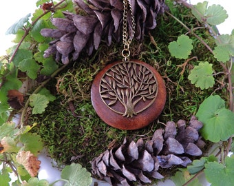 Natural Necklace - Tree of Life Necklace - Earthy Jewelry - Bohemian Jewelry