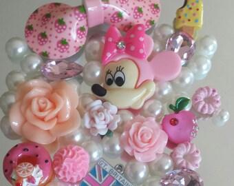 DIY 3d Minie Mouse Phone Case Deco Kit Pink