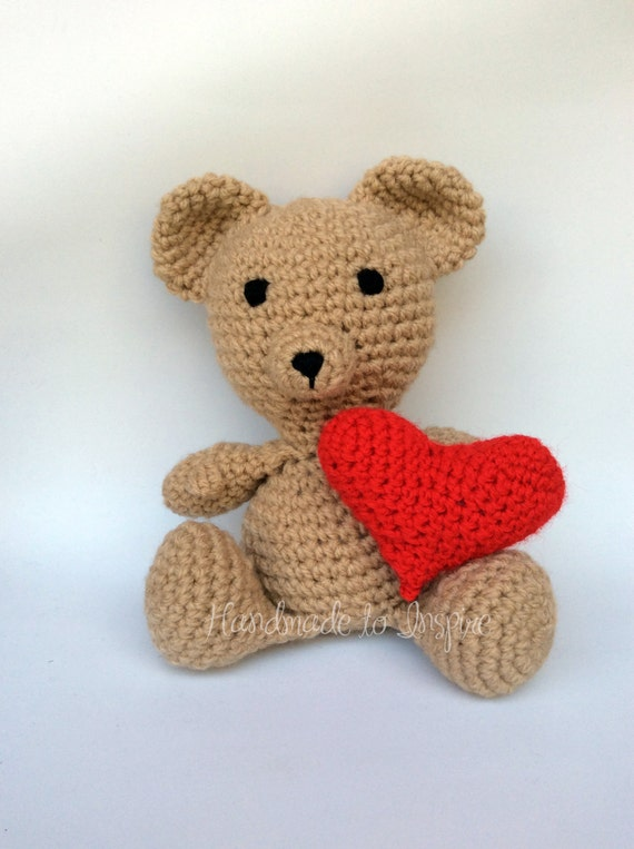 Teddy Bear Amigurumi Amigurumi Bear Be my valentine Bear