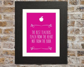 the best teachers print teacher gifts for teacher thank you gift for teacher - Teacher Pictures To Print