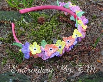 Mini flowers-FSL-4x4 hoop-original lace design