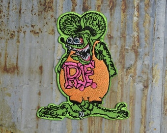 Ratfink Rat Skater Iron On Sew On Patch Transfer