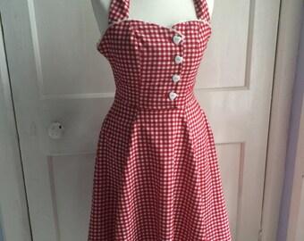 Cute 1950s style dress petit size 6