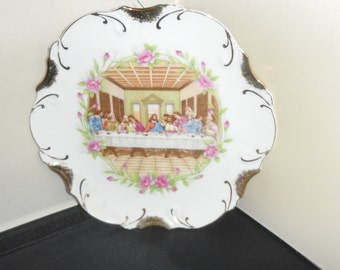 Vintage Last Super Plate / Wall Hanging  Made in Japan  has 18kt Gold Trim