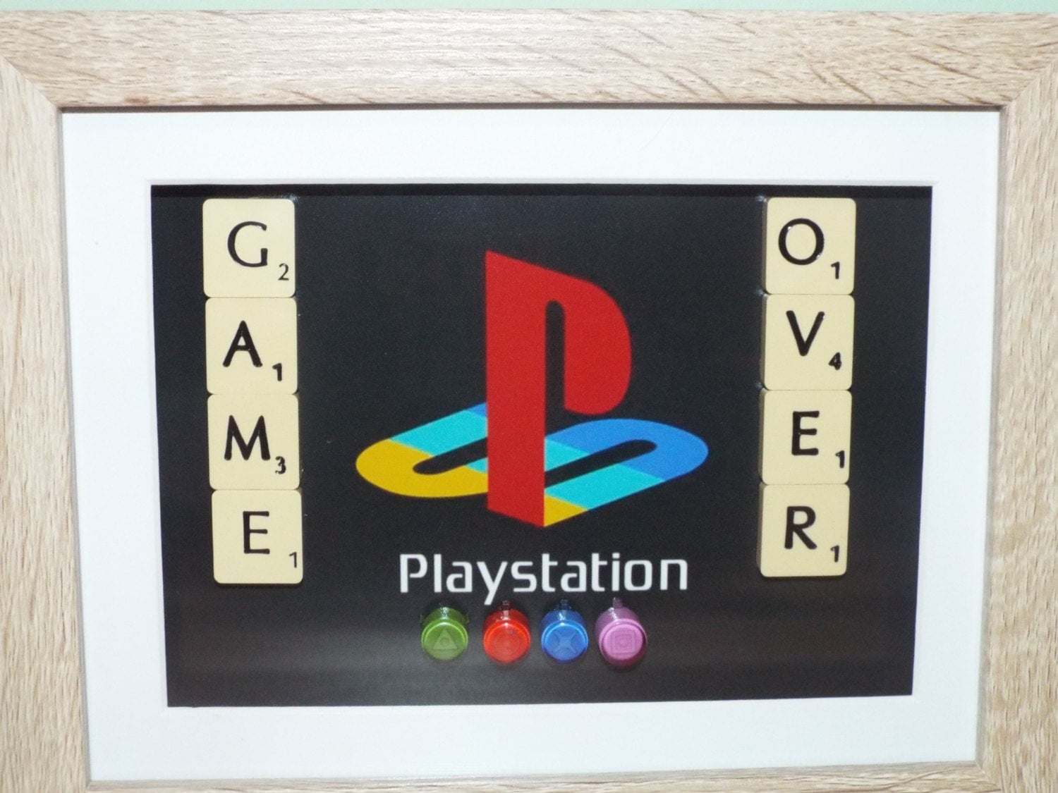 Playstation X Square Circle Triangle With Scrabble
