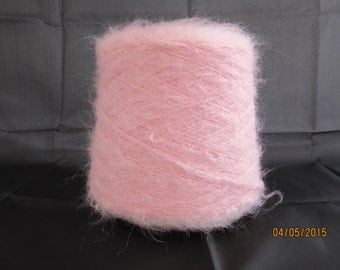 Pale Pink Mohair Yarn Mohair/Wool/Nylon 78/13/9 500g Cone
