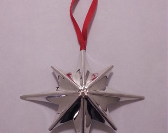 8-Point Tin Star Ornament