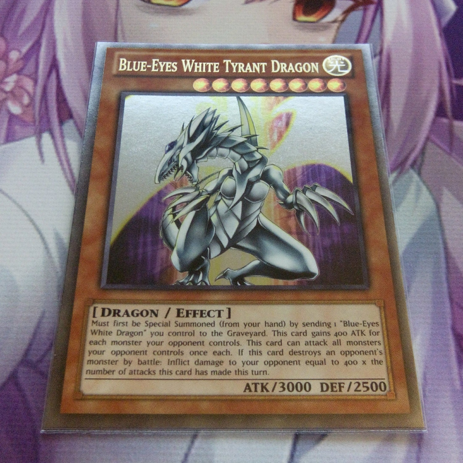 blue eyes white tyrant dragon ultra rare orica proxy