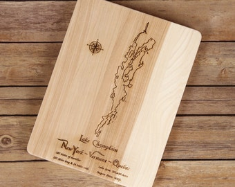 New England Lakes Cutting Boards--New York/Vermont and New Hampshire