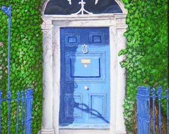 Fine Art Print Greeting Card - The Kinsale Door