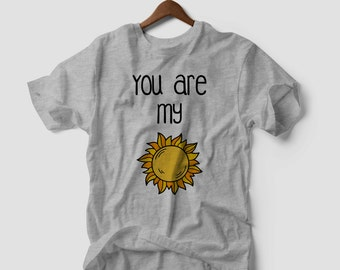 You Are My Sunshine Romantic Tumblr T-shirt Vest Tank Top Men Women Unisex