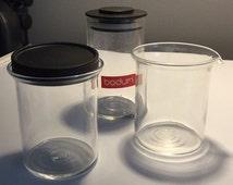 Vintage Carsten Jorgensen Design for BODUM - Glass Bistro Sugar, Creamer & Chocolate or Cinnamon Shaker - DANISH MODERN