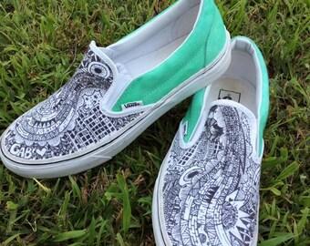 Custom Zentangle Shoes!