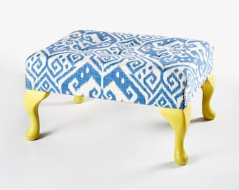 Quirky Upholstered Footstool - Made to Order as the Original has been sold.