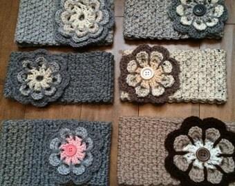 Headbands, crochet flower
