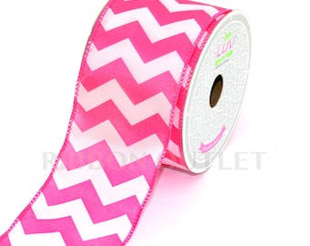"2 1/2"" Chevron Pattern Ribbon (10 Yards)"