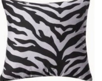 Zebra Print Throw Pillow Cover