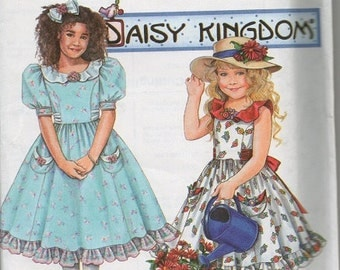 Daisy Kingdom Dress Pattern ~ Sizes 3-6 ~ Girls
