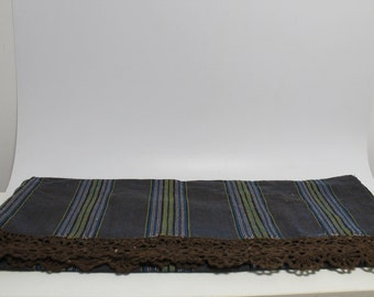 Old hand made woven cover for bed