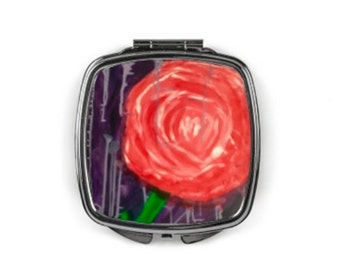 """Compact mirror """"Pink love"""""""
