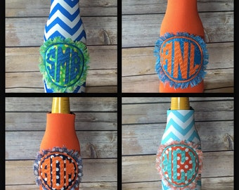 bottle wrap with monogramed patch- ships within 2 business days!