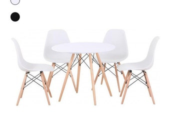 EAMES dsw STYLE TABLE with 4 chairs -