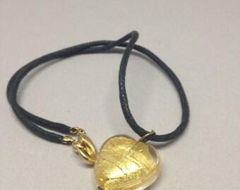 Venetian Gold Foil Pendant Necklace