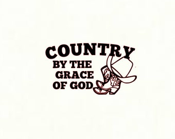 Country By The Grace Of God Decal