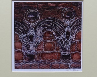 Whitby Abbey - Digital Print of fabric collage & machine embroidery - 1 of 3 designs