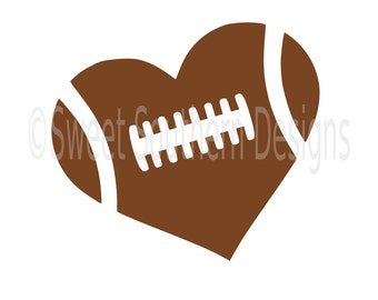 Football heart SVG instant download design for cricut or silhouette
