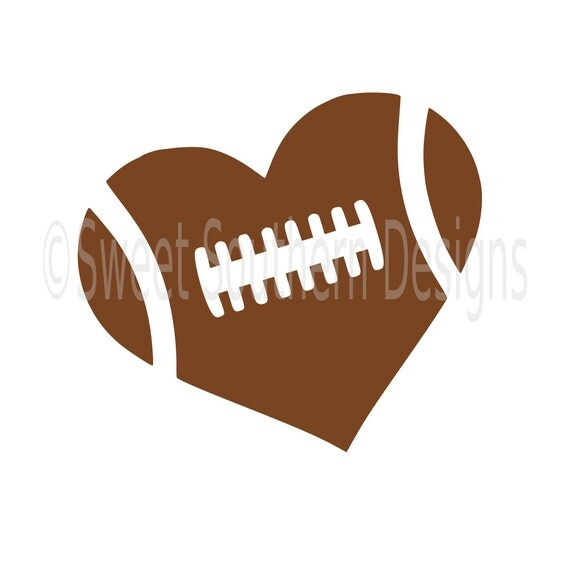 football heart clipart - photo #11