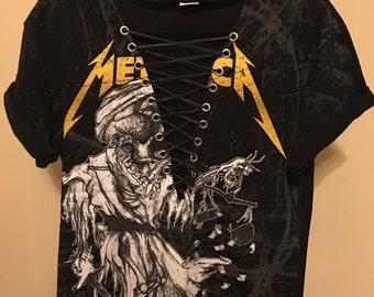Metallica Lace Up T-shirt