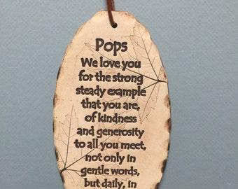 Pops gift, pops poem tile
