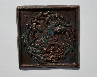 Ceramic Tree of Life Plaque Wall Hanging Celtic