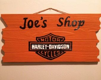 Custom Sign / Harley Davidson / Motorcycle Sign / Personalized Sign