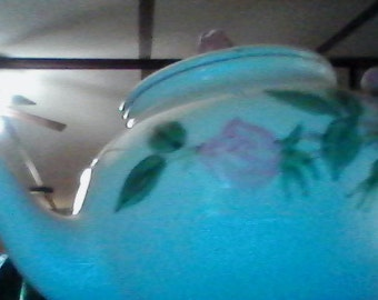 franciscan tea pot with pink flowers