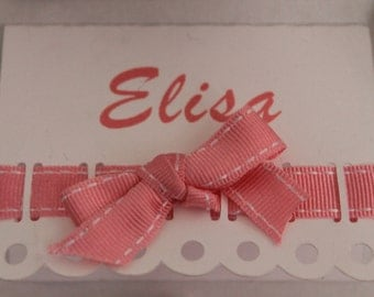 cardboard insert placeholder 1 cm Ribbon with bow min 10 PCs marks place placeholders name personalization