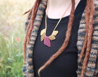 macrame necklace ~ macrame necklace