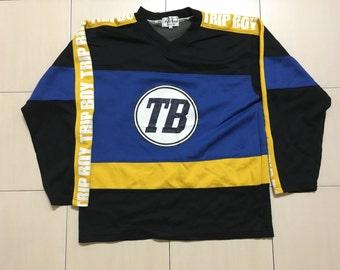 Vintage 90's Trip Bon Sport Classic Design Skate Sweat Shirt Sweater Varsity Jacket Size LL #A553