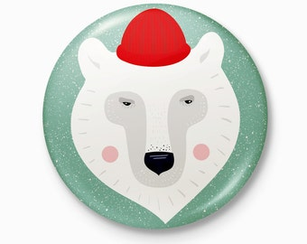 The Polar Bear - Pocket Mirror