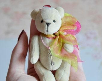 Small stuffed bear toy artist teddy miniature bear