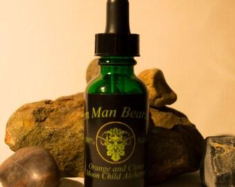 Hemp based beard oil: Green Man - orange and clove
