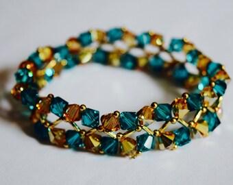 Turquoise Blue woven Bracelet (A8)